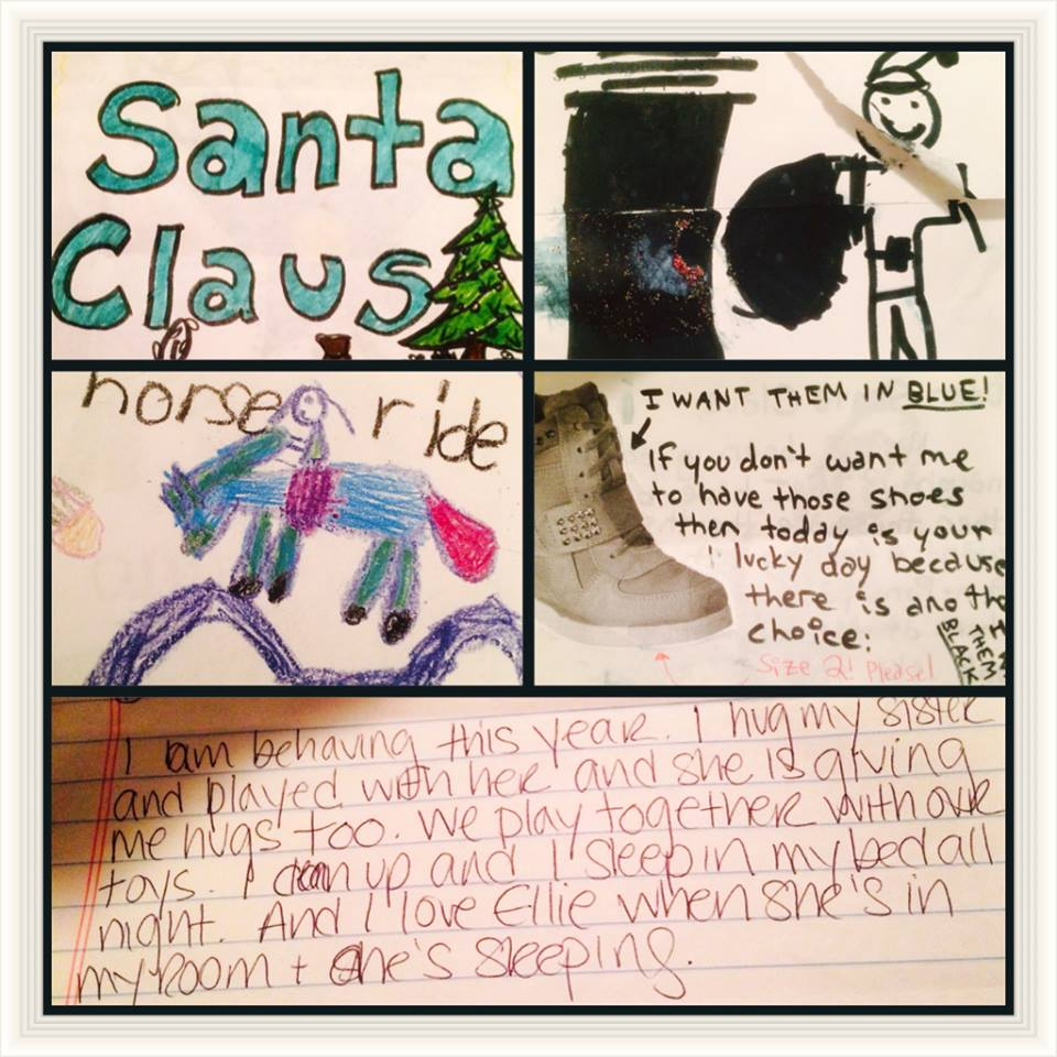 LETTERS TO SANTA PURPLE GOOSE