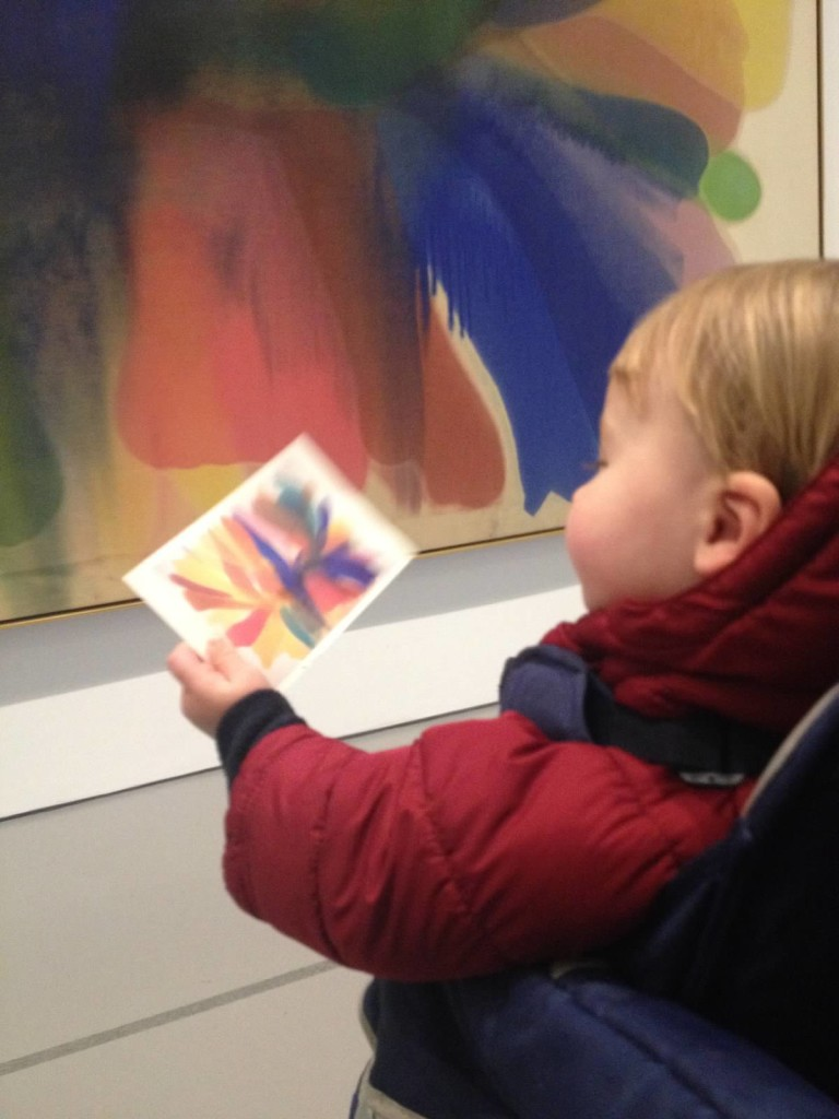 One of the SEEC infant classes visit the Hirshhorn.